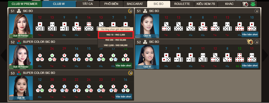 hình 4 cách chơi sicbo tại w88