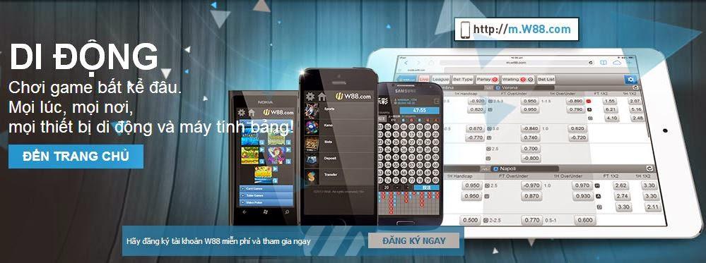 W88 cung cấp ứng dụng trên di động